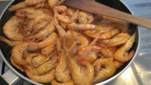 Crevetten mit Apfelschnaps