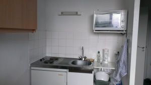 Küchenzeile im Appartment