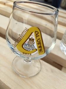 Das kleine Bierglas für das Alvinne Bierfestival