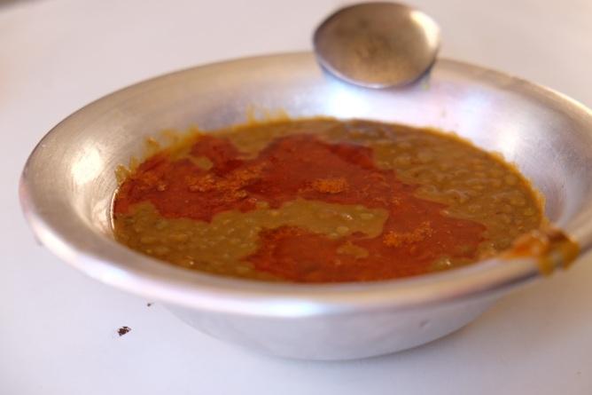 Linsensuppe. In Marrakech zum Frühstück gegessen.